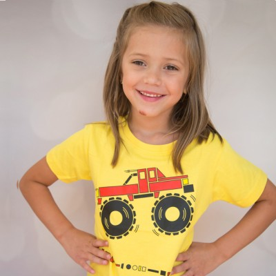 girls monster truck shirt